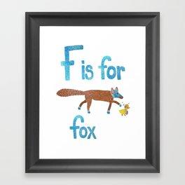 F is for Fox Framed Art Print