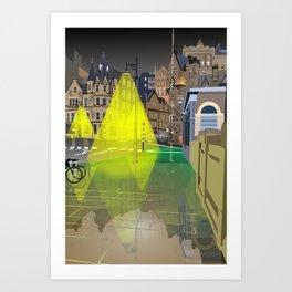 Edinburgh at Night Art Print