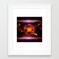 pentagram Framed Art Prints featuring Pentagram  by nicky2342