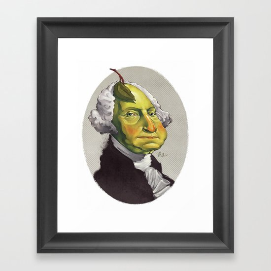 "George ""The Pear"" Washing Framed Art Print"