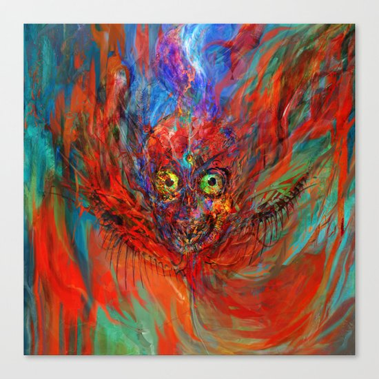 When soul leaves the body Canvas Print
