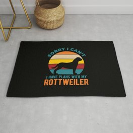 I Have Plans With My Rottweiler Funny Rug