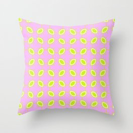 Lime and Pink Scattered Dots Pattern Throw Pillow