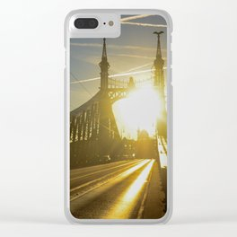 Liberty Bridge Sunset Clear iPhone Case