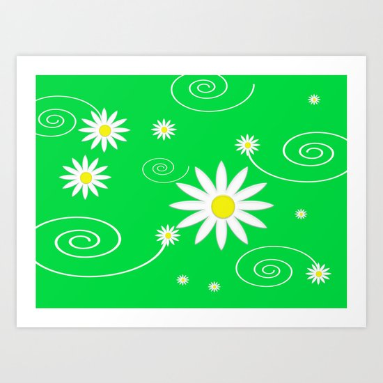 Little Flowers  Art Print