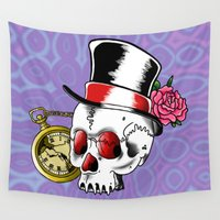gentleman Wall Tapestries featuring Dead Gentleman by 8BOMB