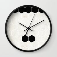 charlie chaplin Wall Clocks featuring Chaplin by Alexandre Reis