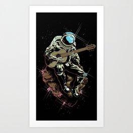 Space Guitar Player Art Print