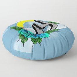 Over Watch Love Blue Floor Pillow