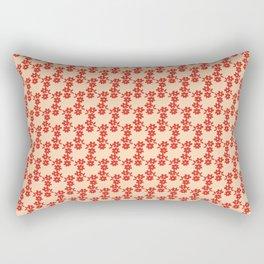 Aztek floral orange 1 Rectangular Pillow