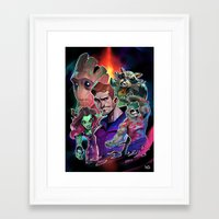 guardians of the galaxy Framed Art Prints featuring Guardians of the Galaxy by Max Grecke