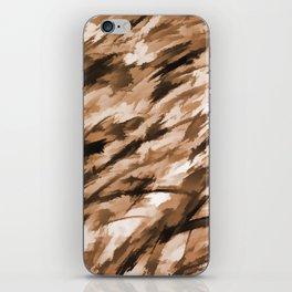 Beige Designer Camo iPhone Skin