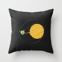 Death by Solar Flare Throw Pillow