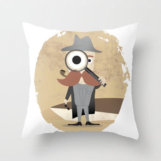 Mr. Detective Throw Pillow