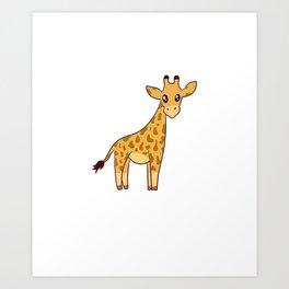 I Do What I Want Funny Giraffe Art Print