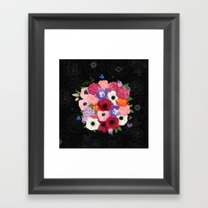floral topiary Framed Art Print
