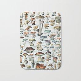 Vintage Edible Mushroom Chart Bath Mat