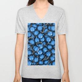 Kettlebells BLUE Unisex V-Neck