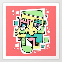 Pastelstein Art Print
