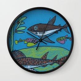 Spotted Catshark Wall Clock