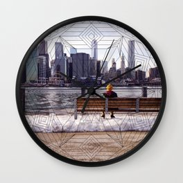 New York Mandala Wall Clock