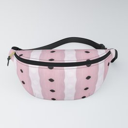 Baby Pink Vertical Organic Stripes Fanny Pack