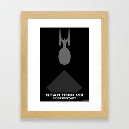 Trek VIII: First Contact Minimalist Poster Framed Art Print