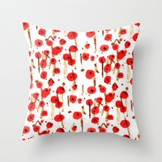 Début du printemps Throw Pillow