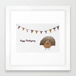 Happy Thanksgiving Framed Art Print