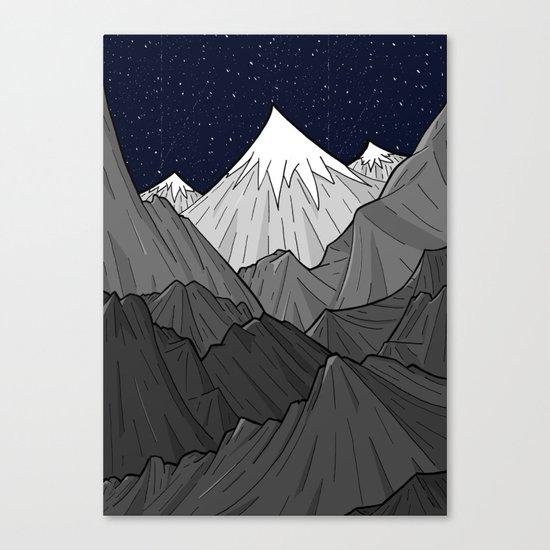 The Dark Grey Mountains Canvas Print