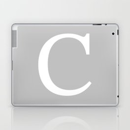 Silver Gray Basic Monogram C Laptop & iPad Skin