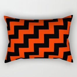 Black and Scarlet Red Steps RTL Rectangular Pillow