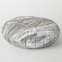 Gray Slate Stone Brick Texture Faux Wall Floor Pillow