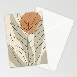 ORGANIC SHAPES - GRAY AND ORANGE 01 Stationery Cards