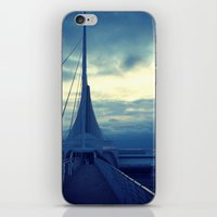 milwaukee iPhone & iPod Skins featuring Milwaukee Morning by Laughable Life