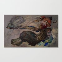 insect Canvas Prints featuring Insect by Lutfi