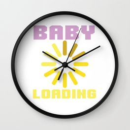 baby baby loading birth pregnancy child loads Wall Clock
