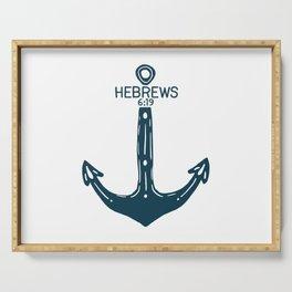Hebrews Anchor Serving Tray