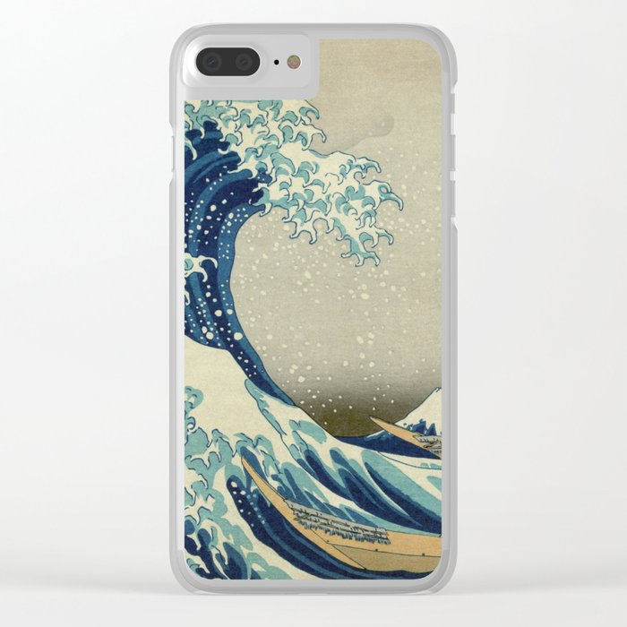The Great Wave off Kanagawa Clear iPhone Case