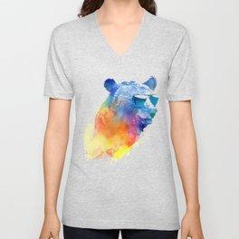 Sunny Bear Unisex V-Neck