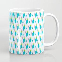 Artistic green teal hand painted bohemian arrows Coffee Mug
