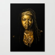 Michonne Golden Canvas Print