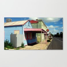 Colourful abandoned shop in rural Town ~ Australia Canvas Print