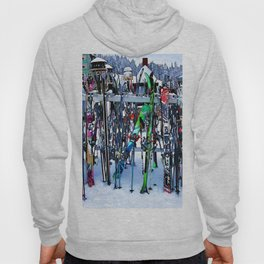 Ski Party - Skis and Poles Hoody