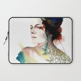 blossoming tattoos Laptop Sleeve