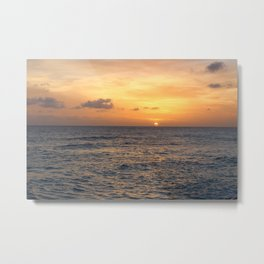 Sunset In Barbados Metal Print