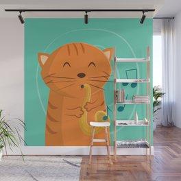 Jazz Cat Wall Mural