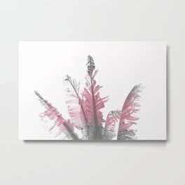 Pink Banana Leaves Metal Print