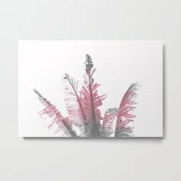 Pink Banana Leaves Metal Print
