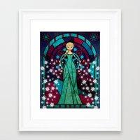 frozen elsa Framed Art Prints featuring Elsa Frozen by JAPdesign